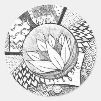 Lotus Pegatina Redonda