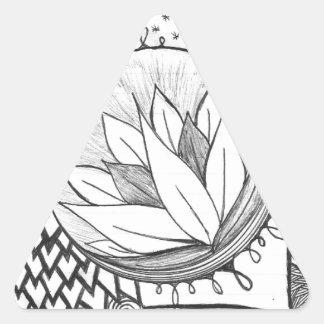 Lotus Pegatina Triangular