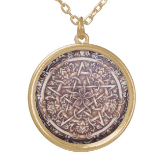 Lotus Pentacle - Md Goldtone Pendant