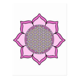 Lotus Pink3 Tarjetas Postales