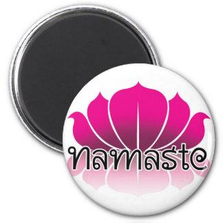 Lotus Pink 2 Inch Round Magnet