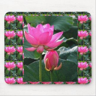 LOTUS Pink and BUD Mouse Pad