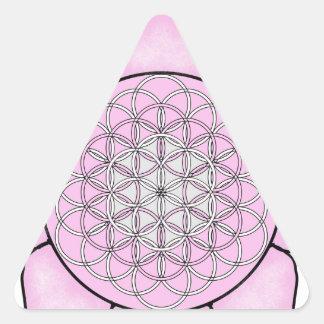 Lotus Pink Triangle Sticker