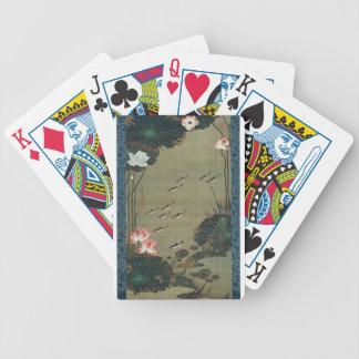 Lotus Pond and Fish by Ito Jakuchu Bicycle Playing Cards