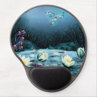 Lotus Pond Gel Mouse Pad
