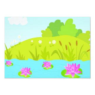 Lotus pond Invitation
