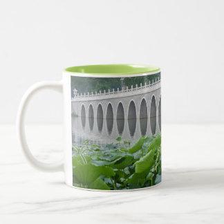 Lotus Pond Reflecting Bridge Arches Mugs