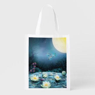 Lotus Pond Reusable Grocery Bag