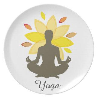 Lotus Pose Meditation  Yoga Illustration Plate