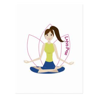 Lotus Pose Postcard
