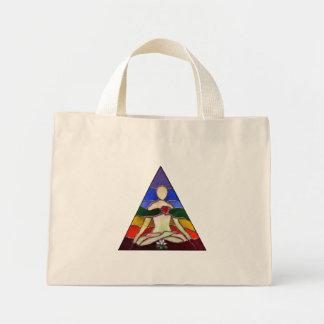 Lotus Pose Tote Bags