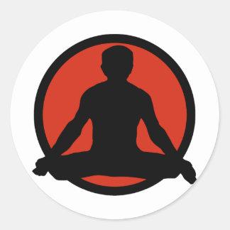 Lotus Pose Yoga Classic Round Sticker