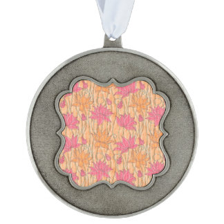 Lotus Positions Pewter Ornament