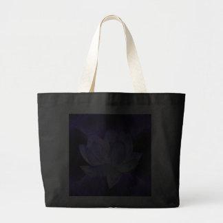 Lotus púrpura y geometría sagrada bolsa lienzo