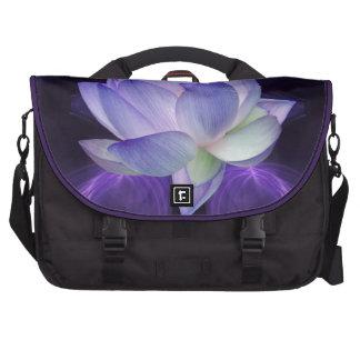 Lotus púrpura y geometría sagrada bolsa para ordenador