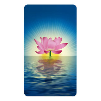Lotus Reflection Double-Sided Standard Business Cards (Pack Of 100)