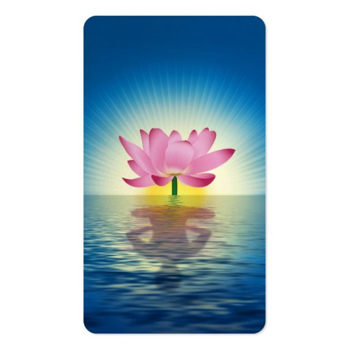 Lotus Reflection Business Cards