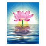 Lotus Reflection Personalized Letterhead