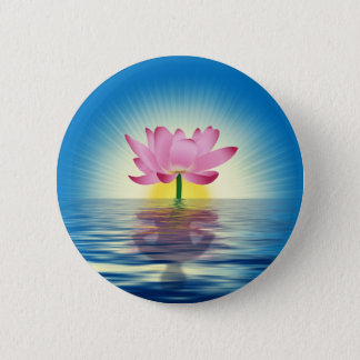 Lotus Reflection Pinback Button