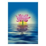 Lotus Reflection Posters