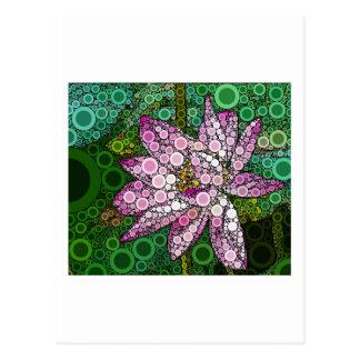 Lotus rosado Mosiac Postales