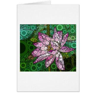 Lotus rosado Mosiac Tarjeta De Felicitación