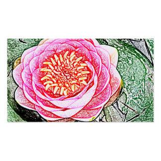 Lotus rosado - tarjetas de visita de la yoga