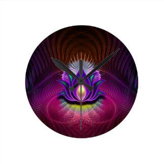 Lotus Royale Round Clock