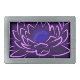 Lotus sagrado hebillas cinturon rectangulares