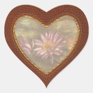 Lotus -  Soaking in Sunlight Heart Sticker