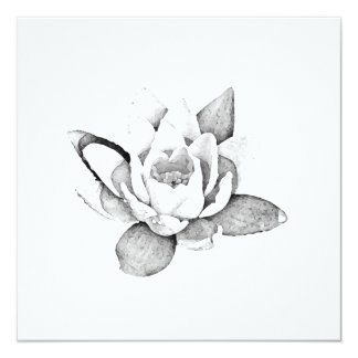 LOTUS SQUARE CARD IN BLACK AND WHITE