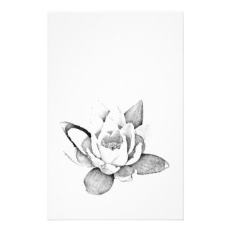 LOTUS STATIONERY IN BLACK AND WHITE