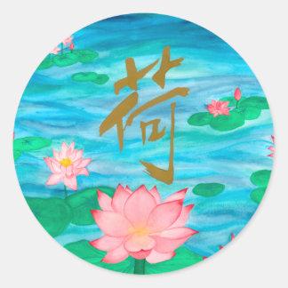 Lotus Round Sticker