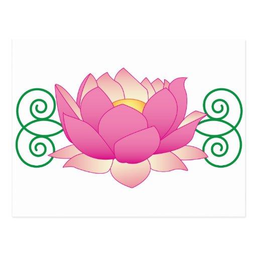 Lotus Swirl Post Card