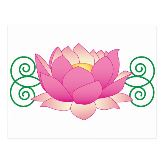 Lotus Swirl Postcard
