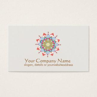 Lotus Symbol Health and Healing Business Card