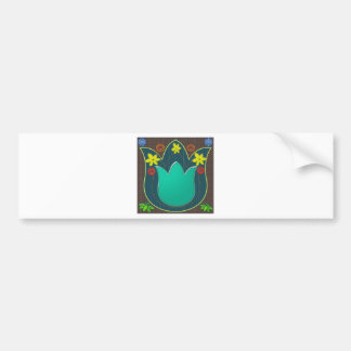 LOTUS Temple Art Refreshing Healing Colors GIFTS Bumper Sticker