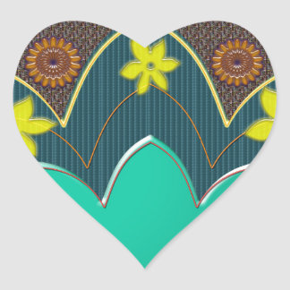 LOTUS Temple Art Refreshing Healing Colors GIFTS Heart Sticker
