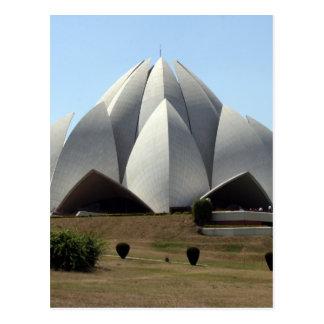 lotus temple delhi postcard