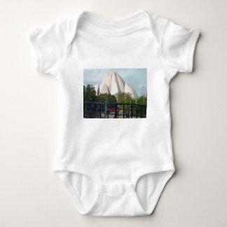 Lotus Temple New Delhi India Bahá'í House Worship Baby Bodysuit