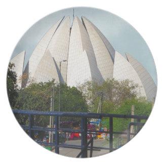 Lotus Temple New Delhi India Bahá'í House Worship Dinner Plate