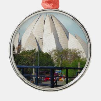 Lotus Temple New Delhi India Bahá'í House Worship Metal Ornament