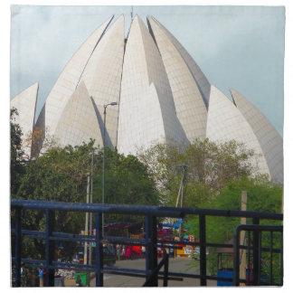 Lotus Temple New Delhi India Bahá'í House Worship Napkin