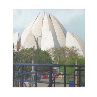 Lotus Temple New Delhi India Bahá'í House Worship Notepad