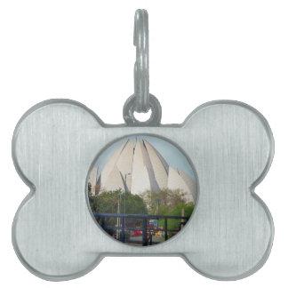 Lotus Temple New Delhi India Bahá'í House Worship Pet Tag