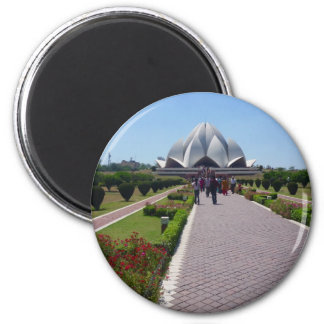 lotus temple path refrigerator magnet