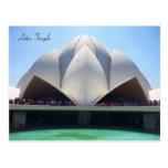 lotus temple post card