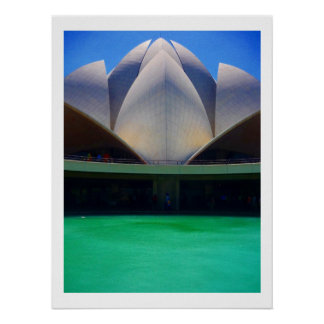 lotus temple waters poster
