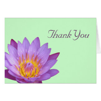 Lotus Thank You Card