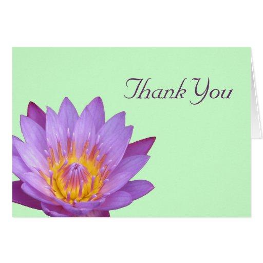 Lotus Thank You Card